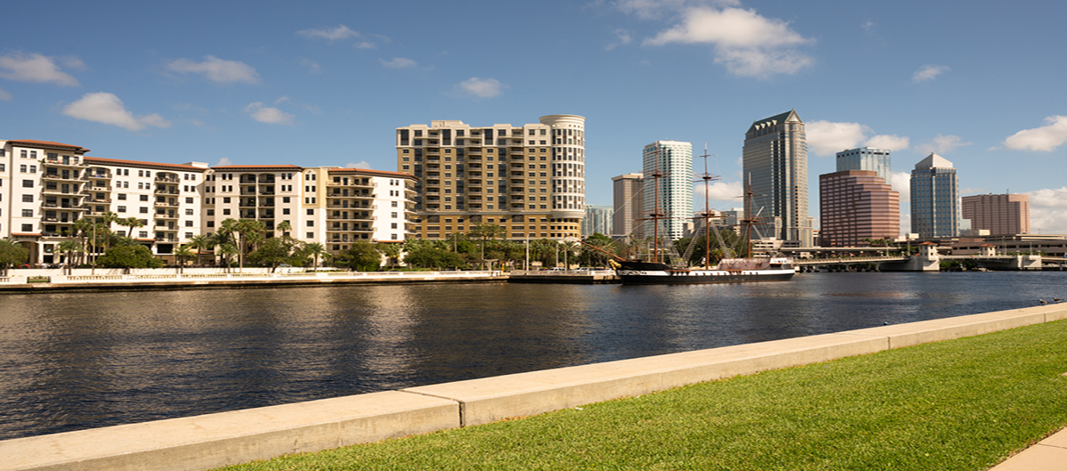Canal view downtown Tampa Fl